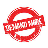 Demand More rubber stamp Stock Image