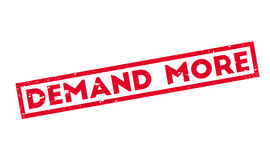Demand More rubber stamp Stock Photography