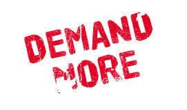Demand More rubber stamp Royalty Free Stock Photos