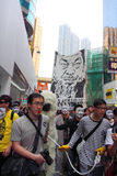 Demand Release of Ai Weiwei in Hong Kong. Over one thousand protesters in Hong Kong took to the streets to demand the release of detained Chinese artist and Royalty Free Stock Images