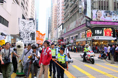 Demand Release of Ai Weiwei in Hong Kong Stock Photography