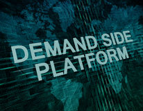 Demand Side Platform Royalty Free Stock Photo
