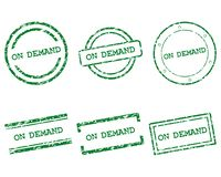 On demand stamps. As vector illustration stock illustration