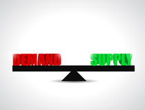 Demand and supply balance illustration design. Over a white background Royalty Free Stock Photography