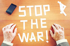 Demand to stop the war Stock Image