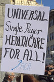 Demand For Universal, Single Payer Health Care Royalty Free Stock Images