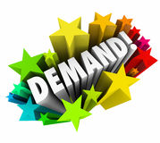 Demand Word Stars Increase Improve Rising More Customer Response Stock Image