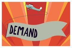 Demanda conceptual de la demostración de la escritura de la mano La foto del negocio que muestra la petición insistente y perento stock de ilustración
