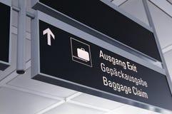 Demanda de bagaje Imagen de archivo libre de regalías