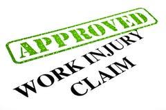 Demanda de la lesión de trabajo APROBADA Imagenes de archivo