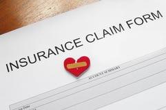 Demanda de seguro foto de archivo libre de regalías