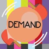 Demanda del texto de la escritura de la palabra El concepto del negocio para la petición insistente y perentoria hecha a partir d libre illustration