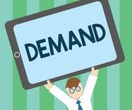 Demanda del texto de la escritura de la palabra El concepto del negocio para la petición insistente y perentoria hecha a partir d stock de ilustración