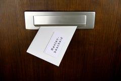 Demanda para el pago - alemán Fotografía de archivo libre de regalías