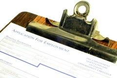 Demande d'emploi Images libres de droits