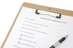 Demande d'emploi image libre de droits