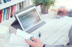Demande de consommation d'énergie calorifique de PC de comprimé photo stock