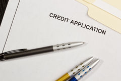 Demande de crédit Image libre de droits