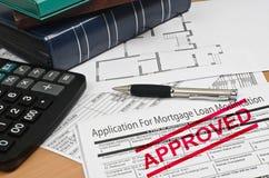 Demande de modification de prêt hypothécaire Images stock