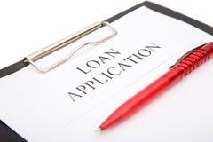 Demande de prêt Photos libres de droits