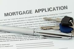 Demande de prêt hypothécaire d'hypothèque Image stock