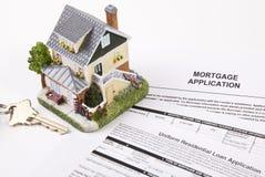 Demande de prêt hypothécaire d'hypothèque Image libre de droits