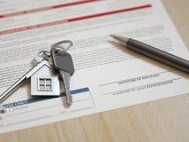 Demande de prêt hypothécaire d'hypothèque Photographie stock libre de droits