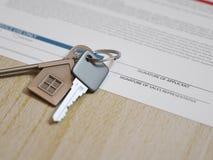 Demande de prêt hypothécaire d'hypothèque Images libres de droits