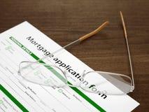 Demande de prêt hypothécaire d'hypothèque Images stock