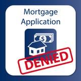 Demande de prêt hypothécaire d'hypothèque niée Photo stock