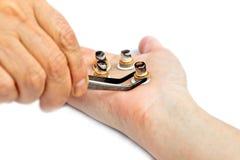 Demande de règlement d'acuponcture Photo libre de droits