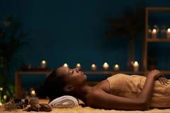 Demande de règlement d'Aromatherapy Photographie stock