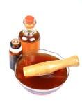Demande de règlement de miel d'Ayurvedic Images libres de droits