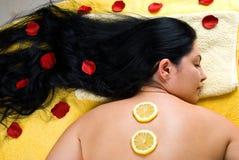 Demande de règlement de station thermale et soin de peau Image stock