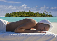 Demande de règlement de station thermale - vacances - îles Cook Photos stock