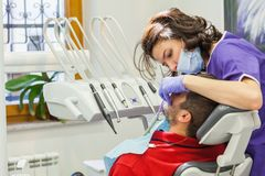 Demande de règlement médicale à la clinique dentaire Photographie stock