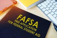 Demande gratuite d'étudiant fédéral Aid FAFSA images stock