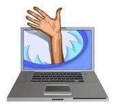 Demander l'aide d'ordinateur Images libres de droits