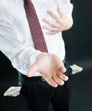 demander l'argent d'homme d'affaires Photos stock