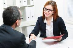 Demandeur de travail ayant l'entrevue Photo libre de droits