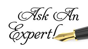 Demandez à un expert Image libre de droits