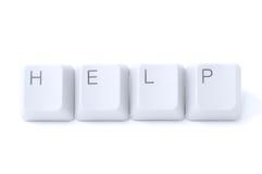 Demandez l'aide par l'Internet Photographie stock libre de droits