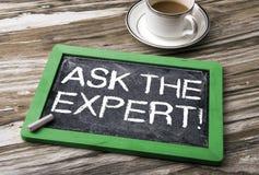 Demandez le concept expert image libre de droits