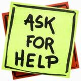 Demandez le conseil ou le rappel d'aide Photo stock