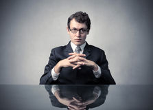 Demanding boss. Portrait of a serious businessman Royalty Free Stock Images