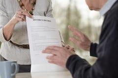 Demanding divorce Stock Photo