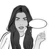 Demanding woman. Demanding girl. Girl looking questioningly. Demanding woman. Demanding girl. A young woman looking questioningly. Elegant lady. Concept idea of Stock Image