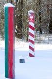 Demarcation marker Stock Image