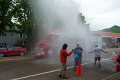 Demarcus Fire Department Water Cannon Royalty Free Stock Image