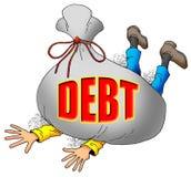 Demasiada deuda. Foto de archivo libre de regalías